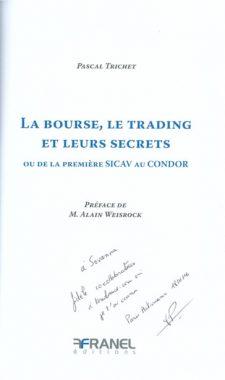 La Bourse, le trading et leurs secrets de Pascal Trichet